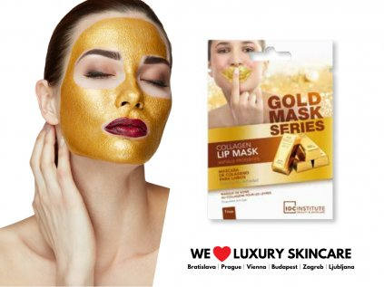 Kolagénová zlatá maska pre nádherné pery