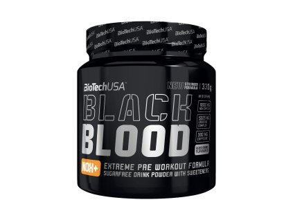 radikalny predtreningovy pripravok s extremnou davkou nox komplexu black blood nox biotech usa 330 g detail