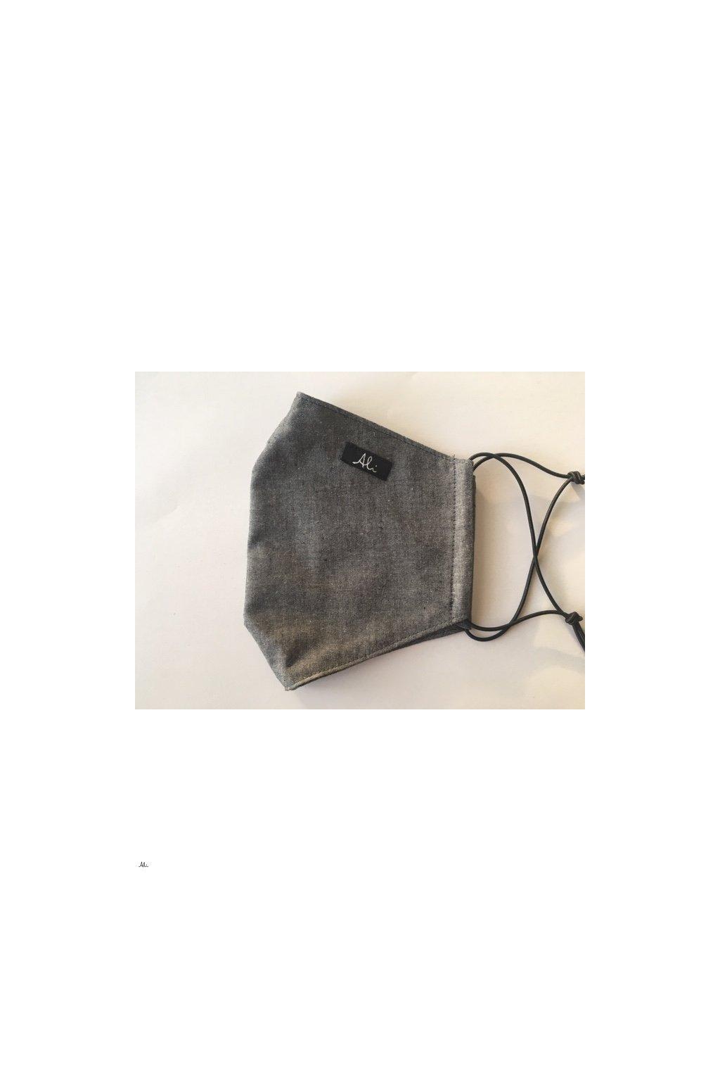 Pánská rouška, ústenka s možností vložení filtru