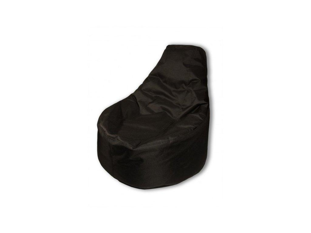 Sedací vak křeslo černá Pepe, 85x80cm