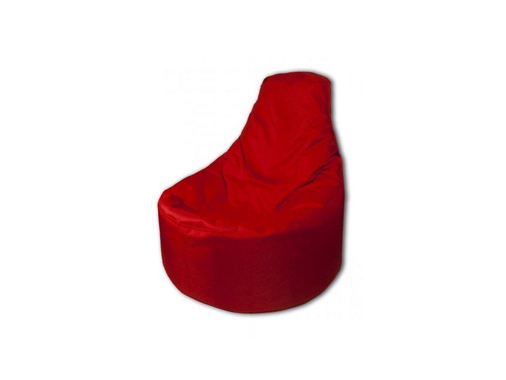 Sedací vak křeslo červená Pepe, 85x80cm