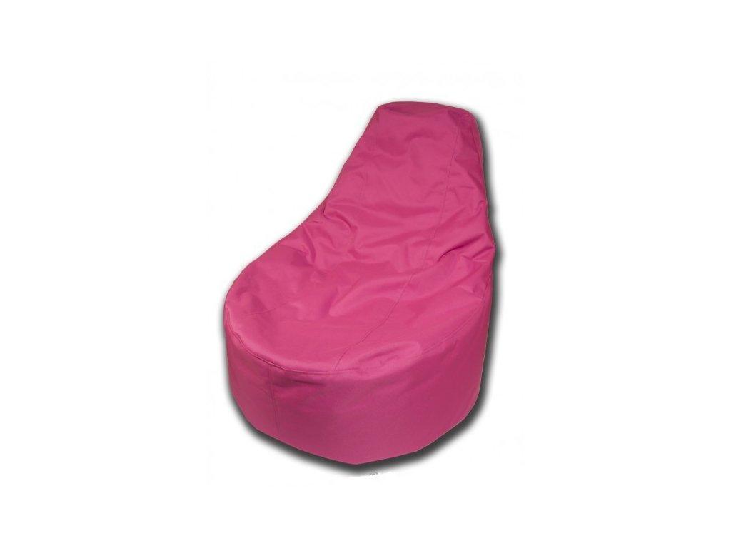 Sedací vak křeslo růžová Pepe, 85x80cm