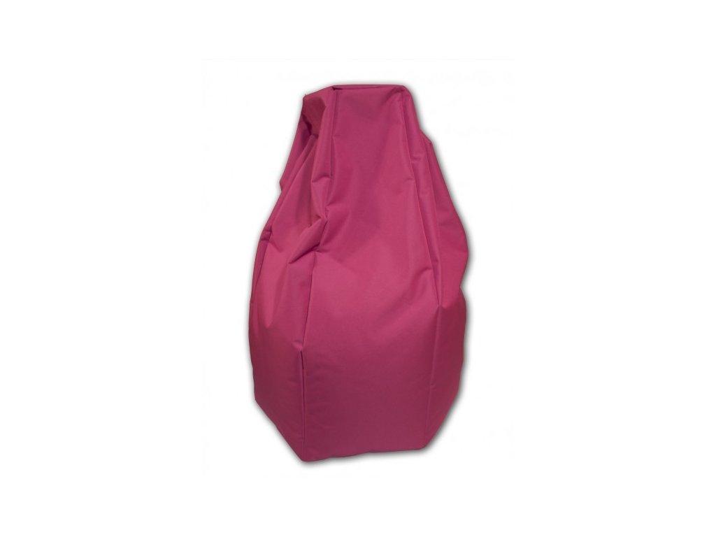 Sedací vak hruška růžová Pepe, 85x65cm