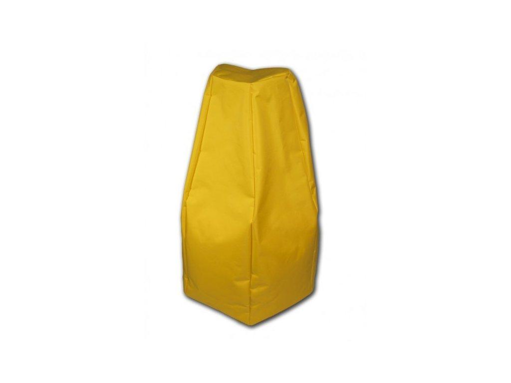 Sedací vak Hruška žlutá Pepe, 85x65cm