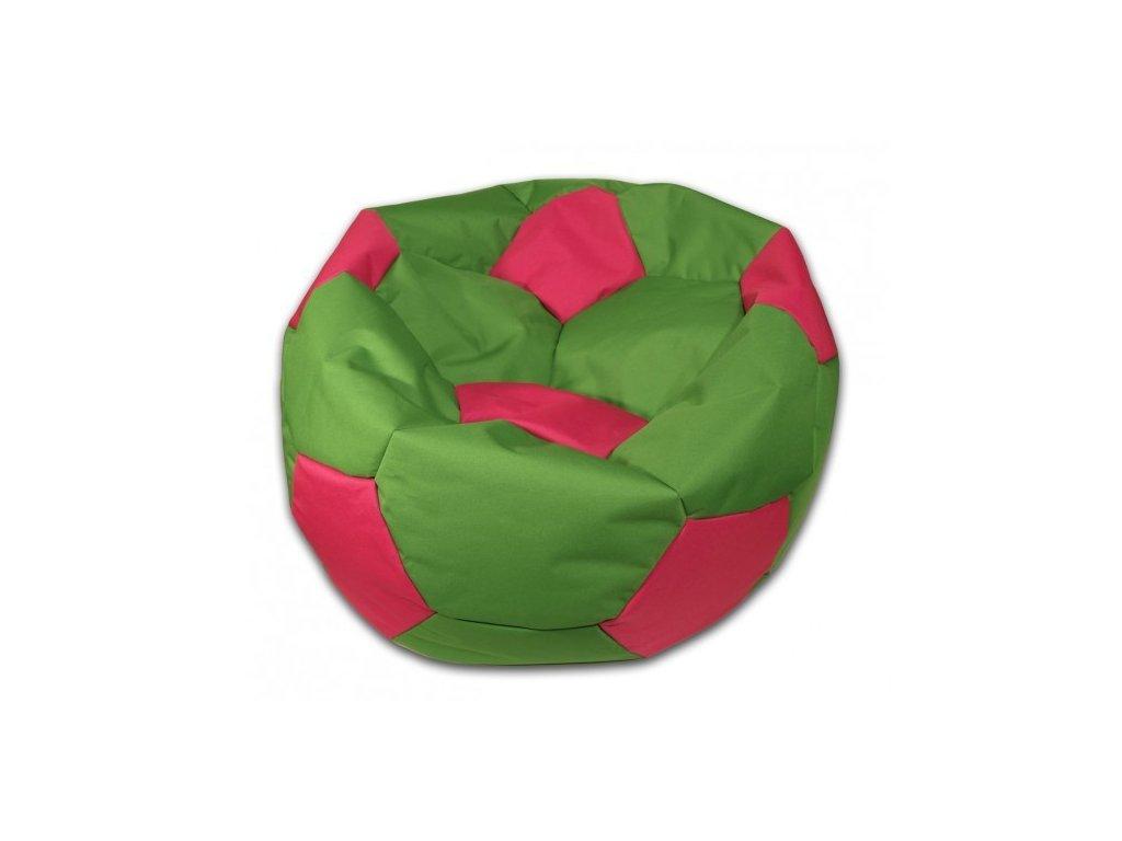 Sedací vak velký fotbalový míč zeleno/růžový Design-domov, 90cm