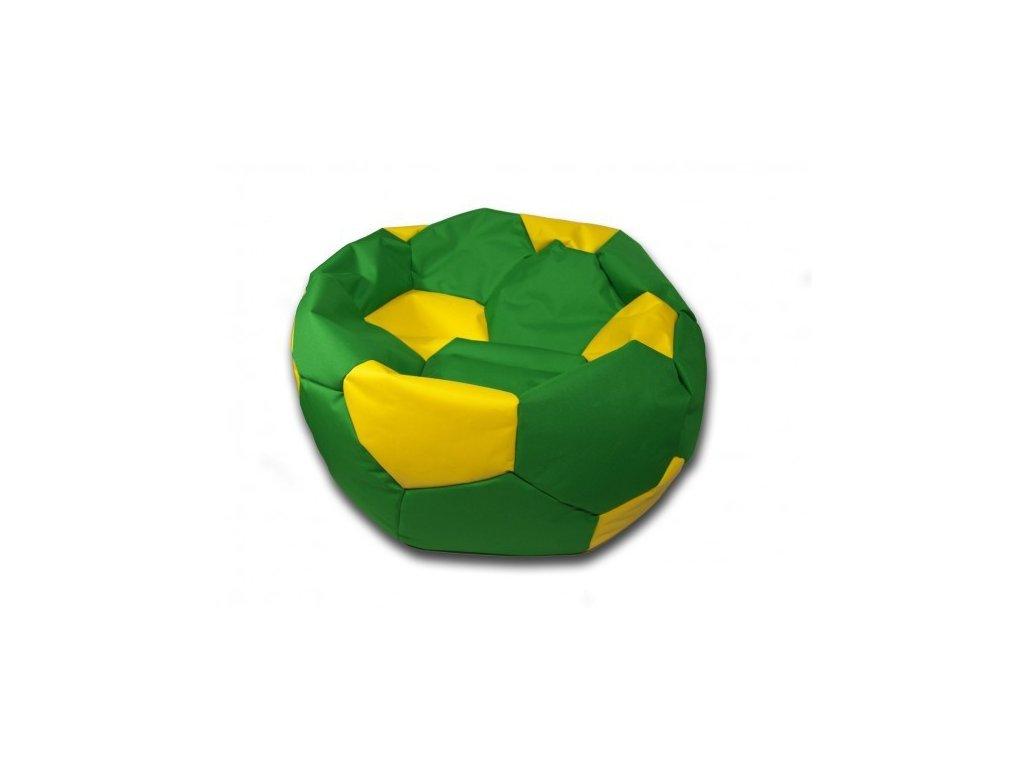 Sedací vak velký fotbalový míč zeleno/žlutý Design-domov, 90cm