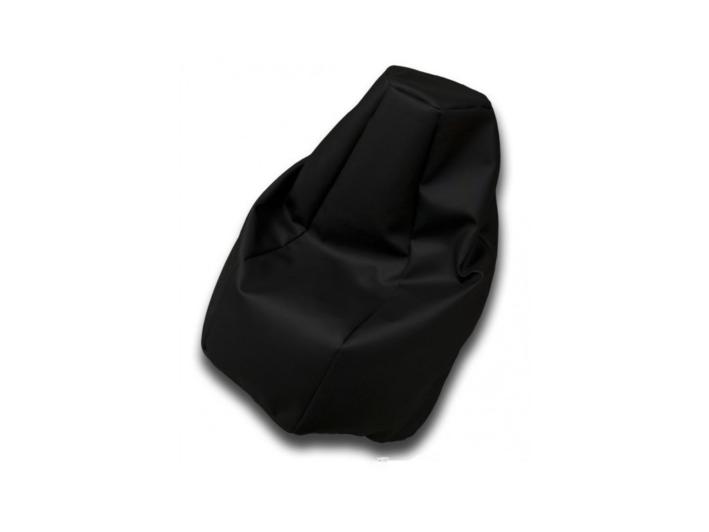 Sedací vak hruška černá koženka Design-domov, 85x65cm