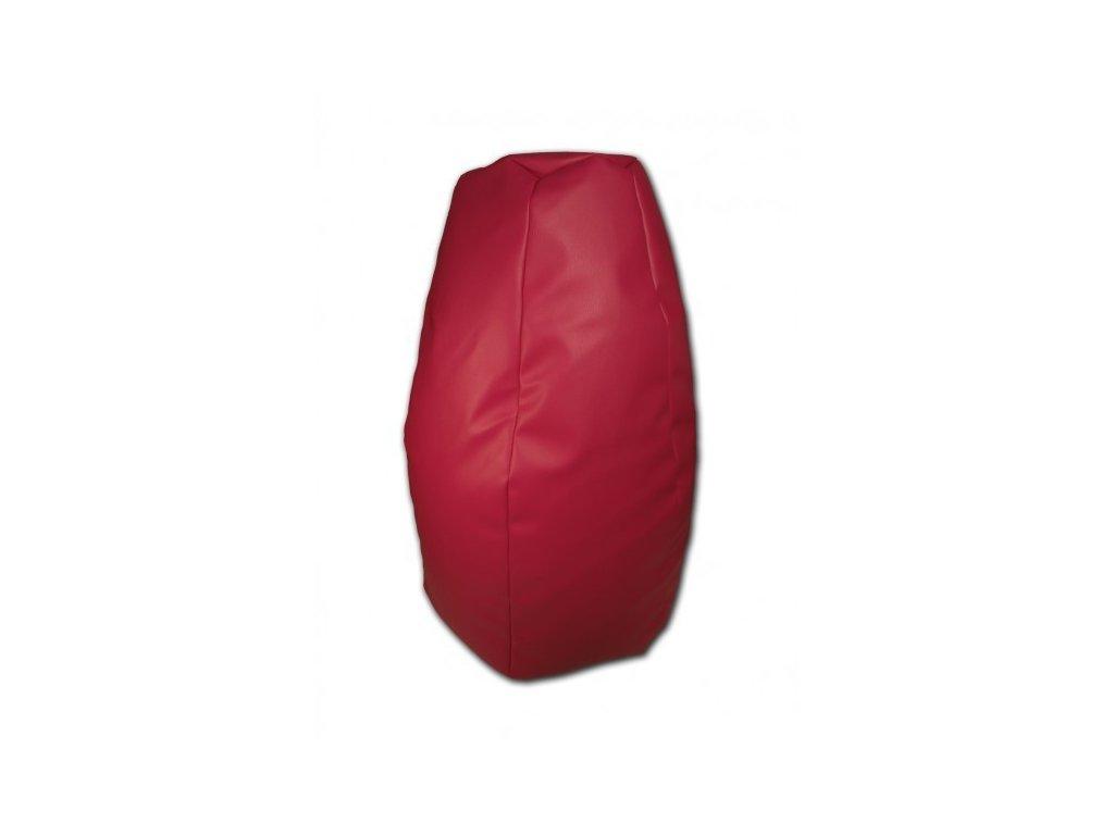 Sedací vak hruška červená koženka Design-domov, 85x65cm