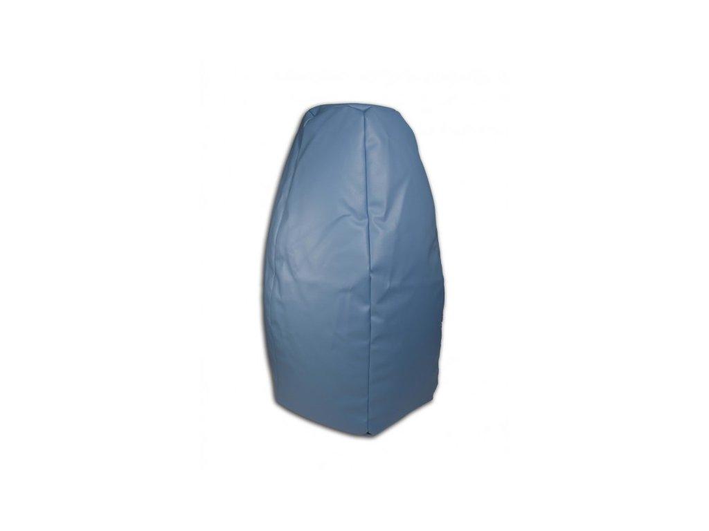 Sedací vak hruška modrá koženka Pepe, 85x65cm
