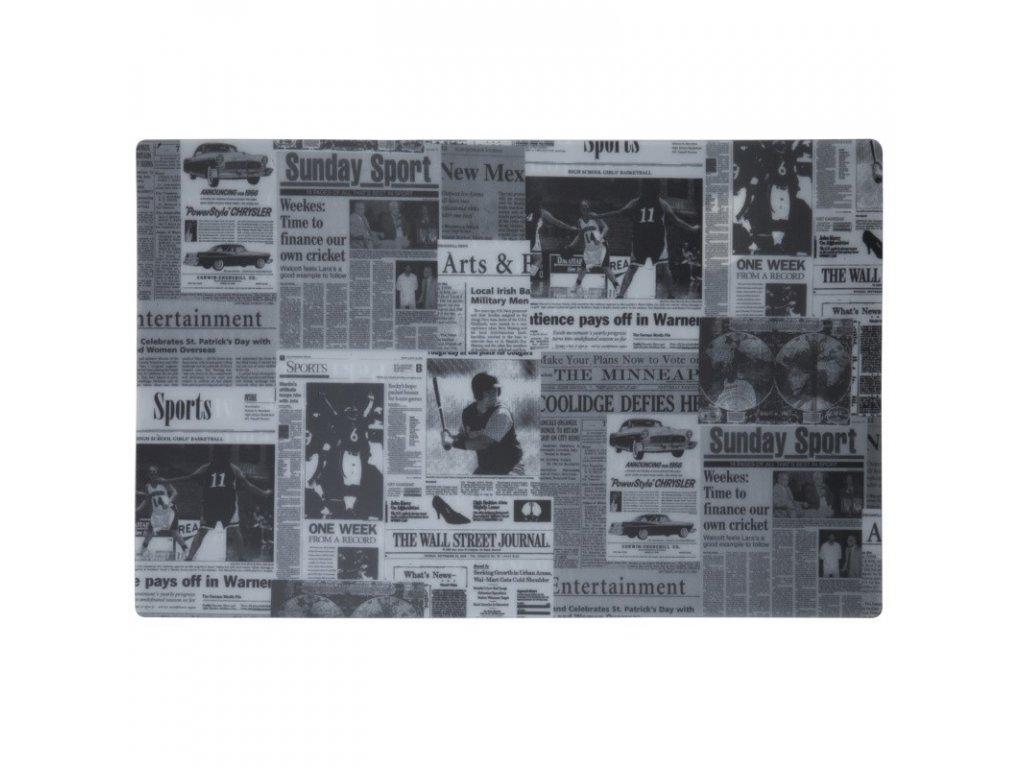 Prostírání plastové s potiskem novin