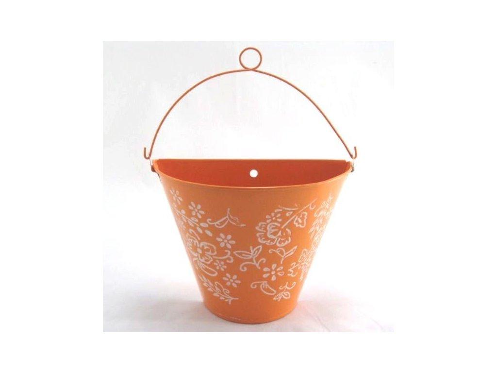 Plechový květináč závěsný -Dakls