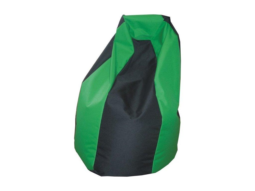 Sedací vak hruška černá/zelená Pepe, 85x65cm
