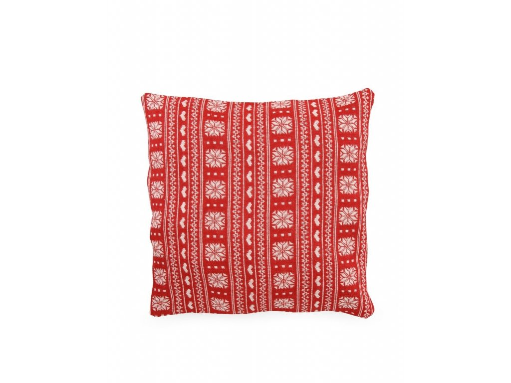 Povlak na polštář červený norský styl -Dakls