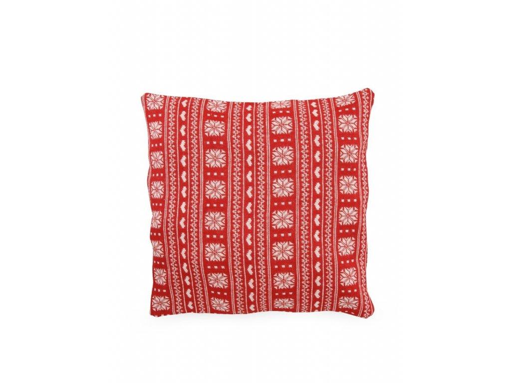Povlak na polštář červený norský styl