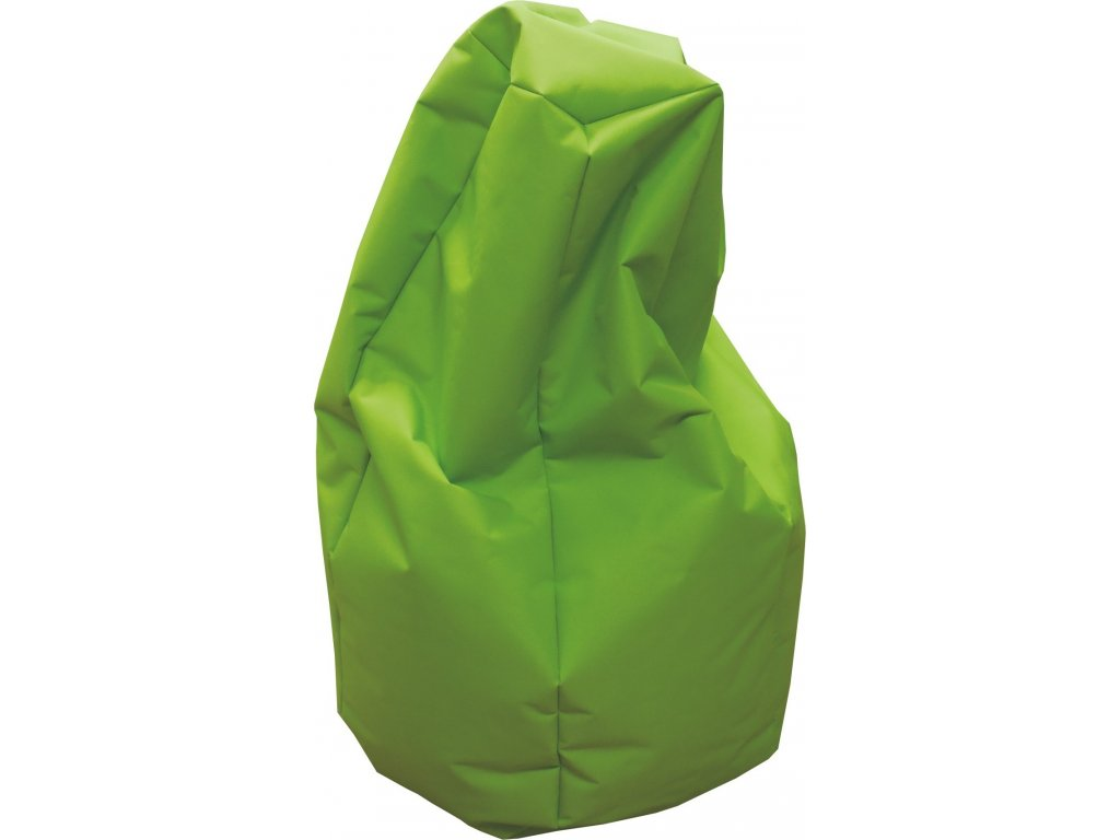 Sedací vak hruška neonově zelená Pepe, 85x65cm