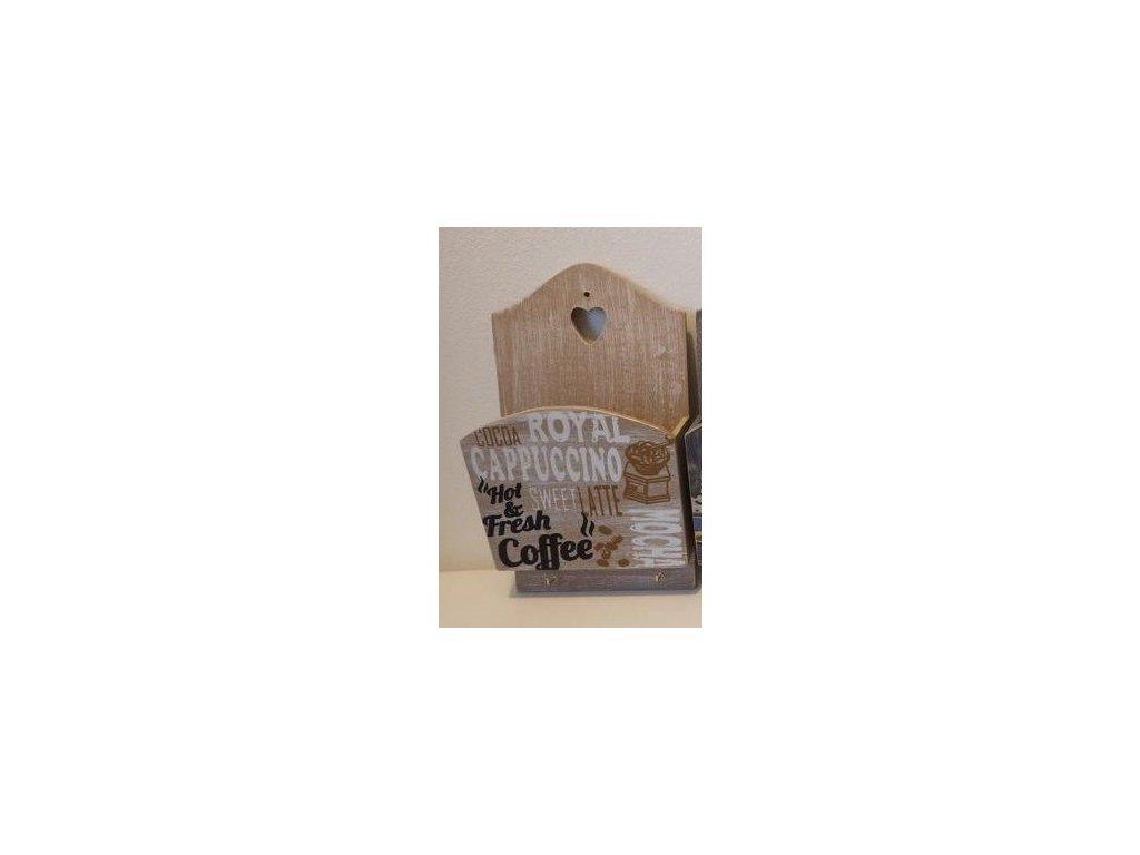 Polička dřevo závěsná -Dakls