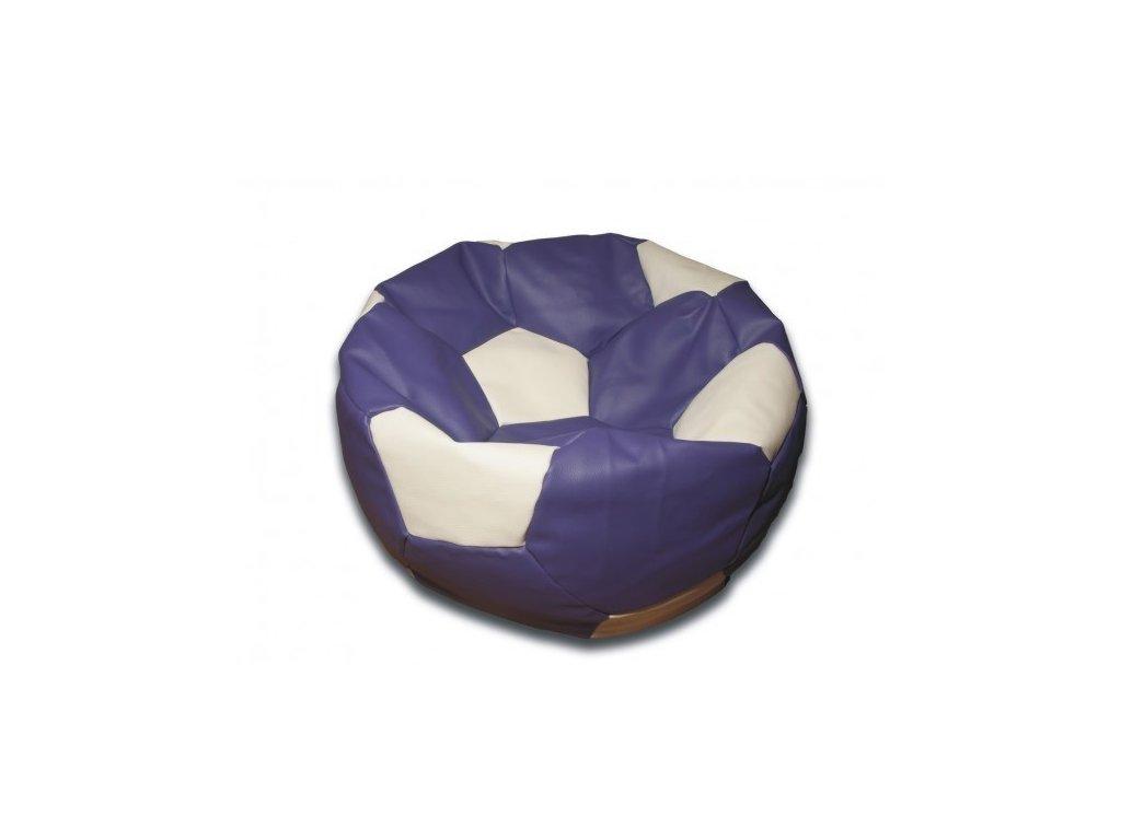 Sedací vak fotbalový míč fialovo/bílý koženkový Design-domov, 90cm