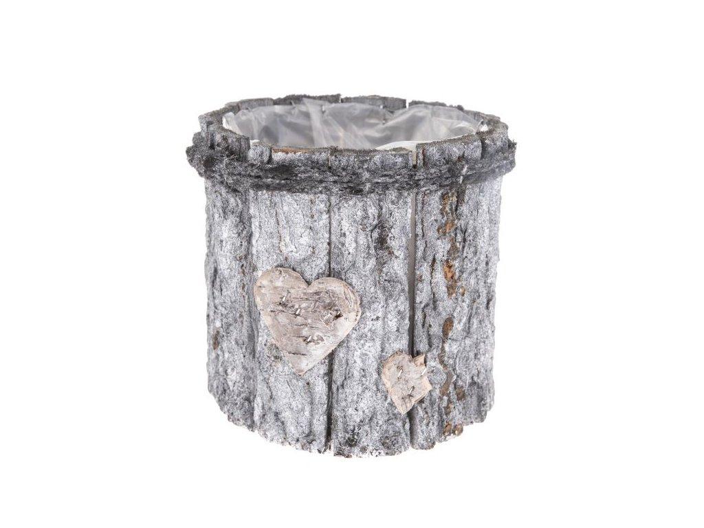 Dřevěný obal na květináč s PVC