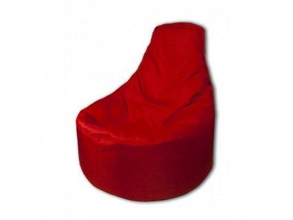 Sedací vak křeslo červená Design-domov, 85x80cm