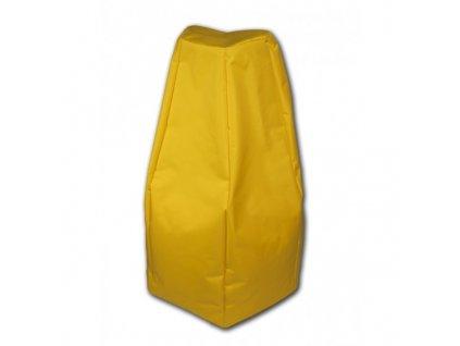 Sedací vak Hruška žlutá Design-domov, 85x65cm