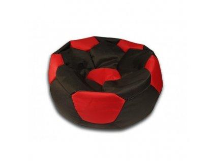 Sedací vak velký fotbalový míč černo/červený Design-domov, 90cm