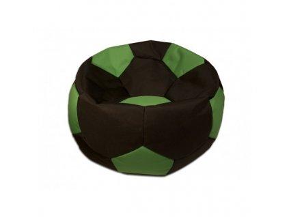 Sedací vak velký fotbalový míč černo/zelený Pepe, 90cm