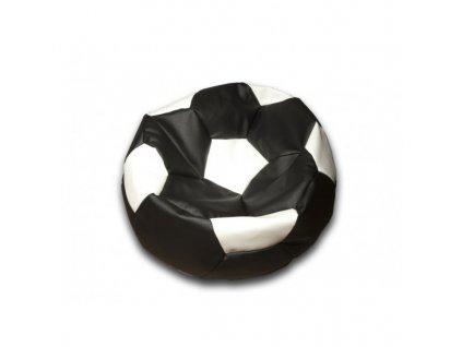 Sedací vak fotbalový míč černo/bílý koženkový Pepe, 90cm