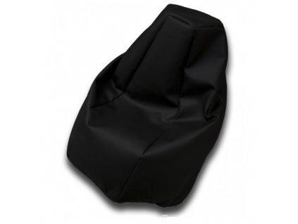 Sedací vak hruška černá koženka Pepe, 85x65cm