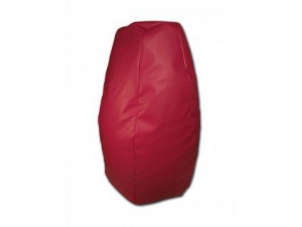 Sedací vak hruška červená koženka Pepe, 85x65cm
