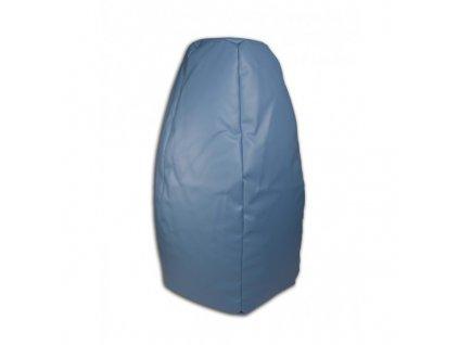 Sedací vak hruška modrá koženka Design-domov, 85x65cm