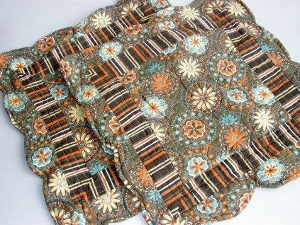 Povlak na polštář barevný ornament, 45x45cm