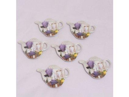 Tácek na sáček čaje- levandule s citronem -Dakls