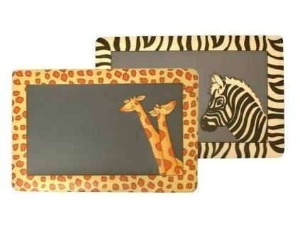 Prostírání plastové motiv žirafa, 28x43cm -Dakls