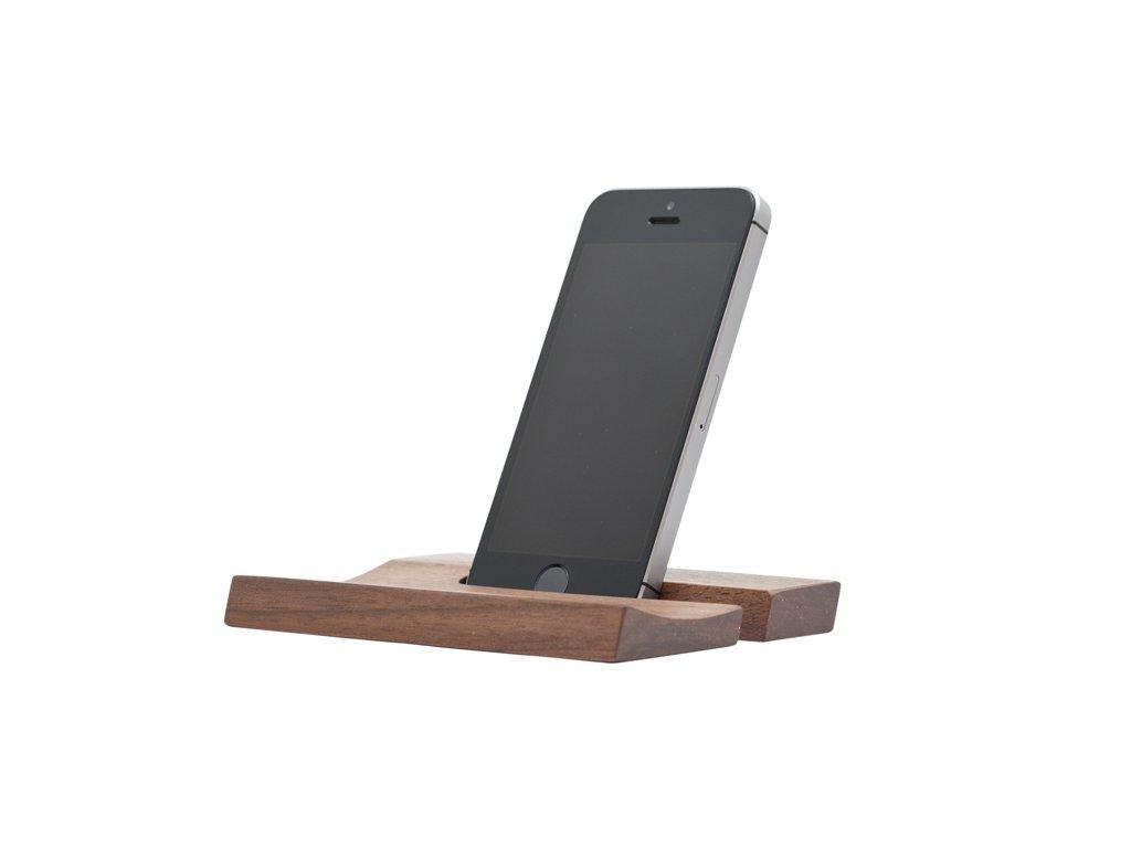 Stojánek na telefon - ořech (14mm)