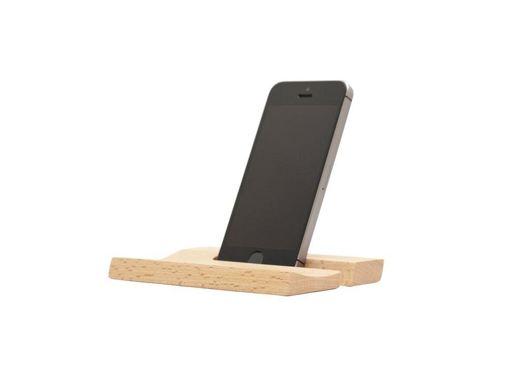 Stojánek na telefon - buk (14mm)
