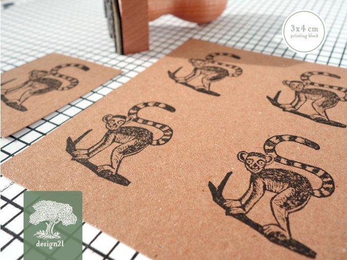 Lemurek: razítko 3x4 cm