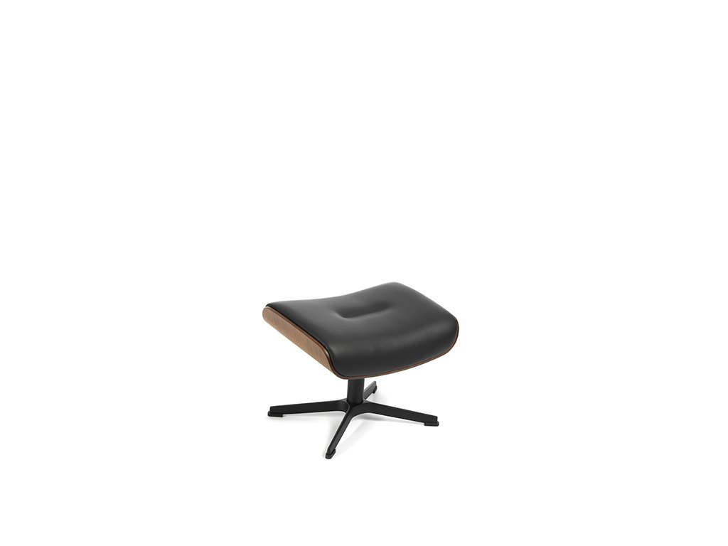 o142 timeout footstool walnut black alufoot