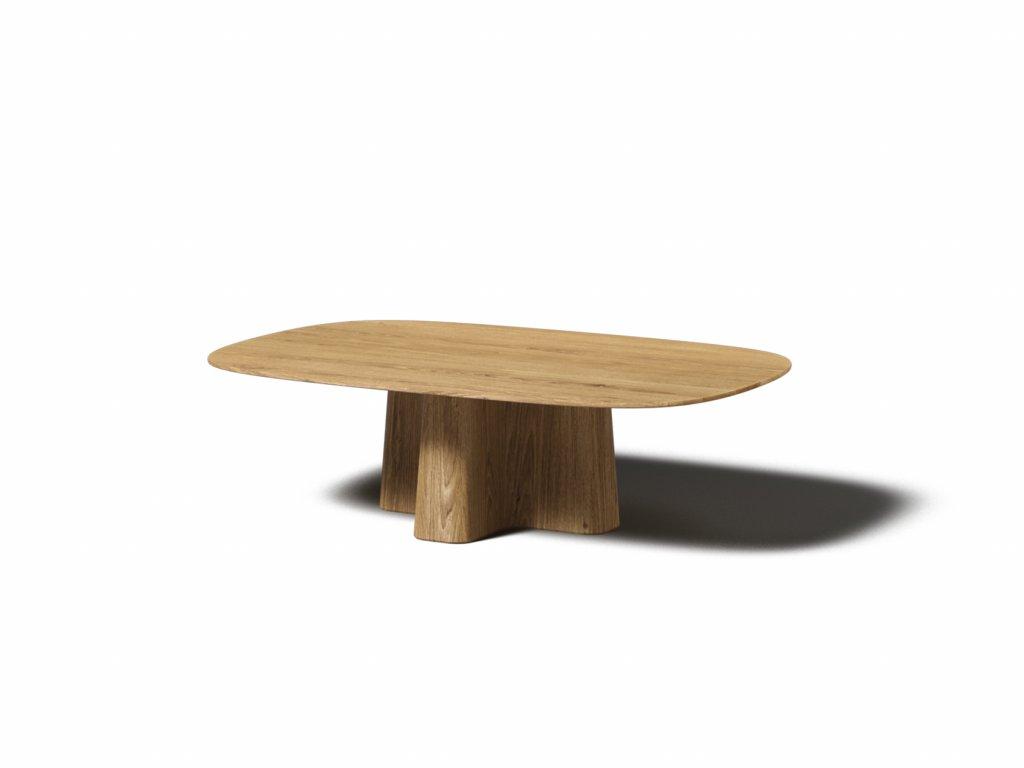 masivny konferencny stolik xx nizky oval
