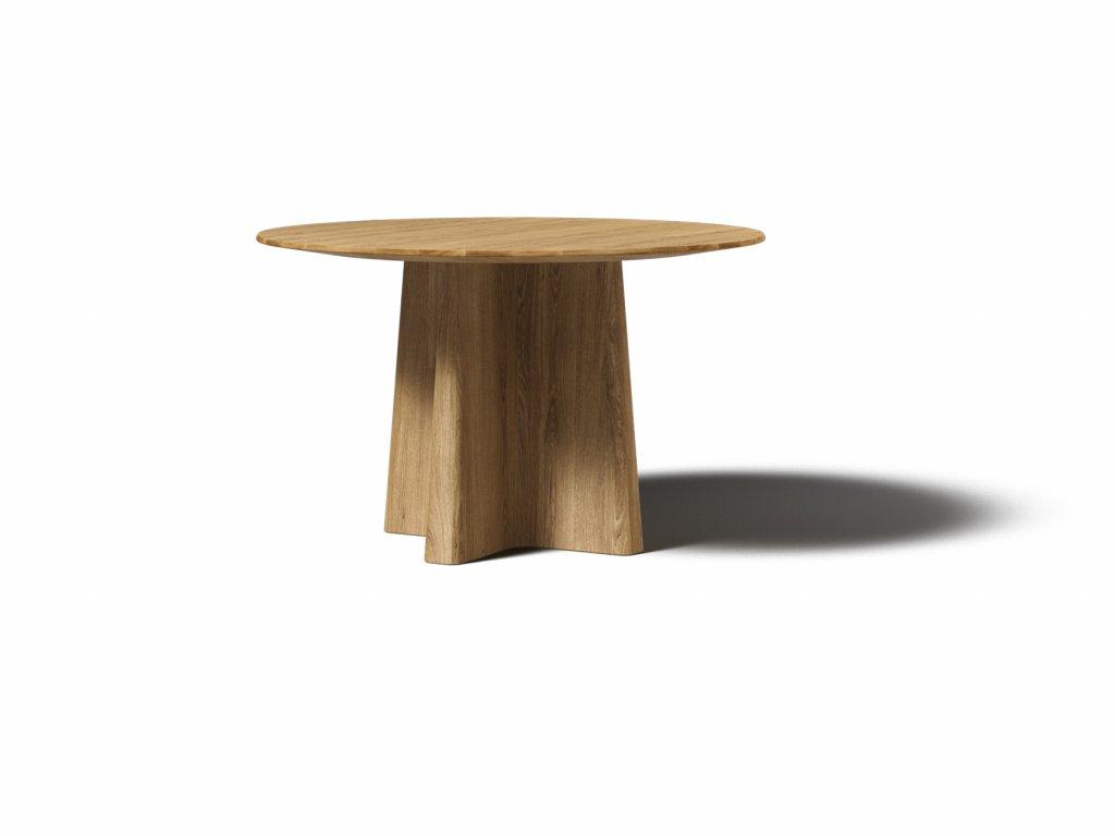 masivny dubovy jedalensky okruhly stol xx 125