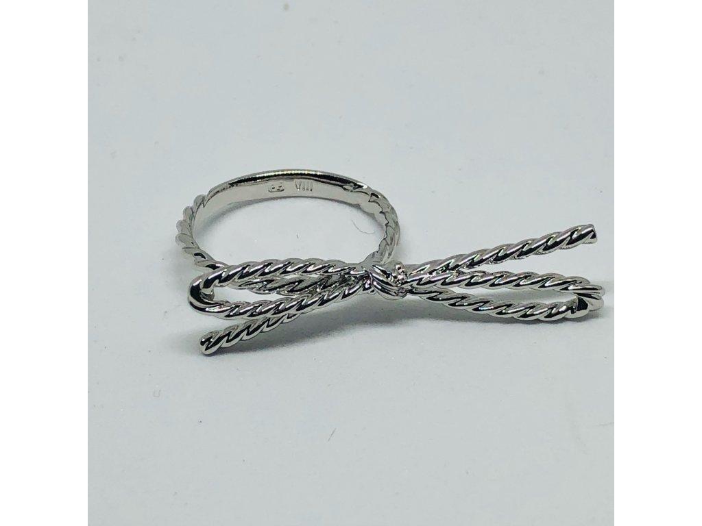 Strieborný prsteň mašľa 1