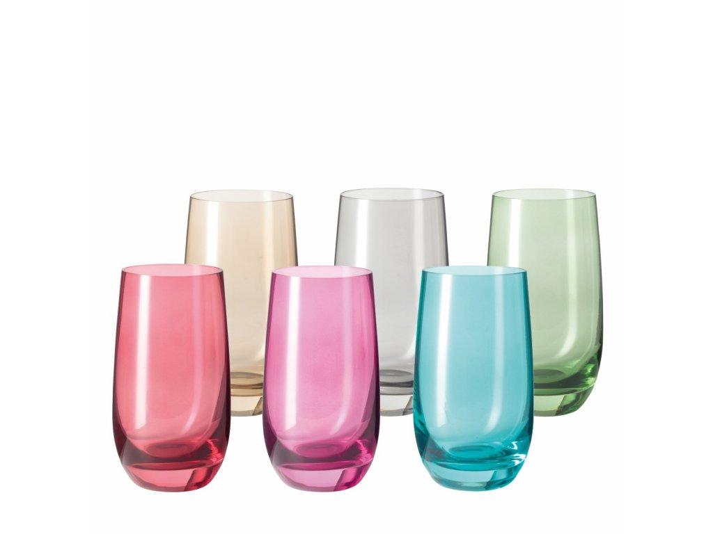 0036410 sklenicky sora 390 ml set6 barev 0