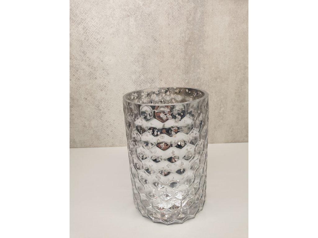 Sklenený svietnik - váza 18cm