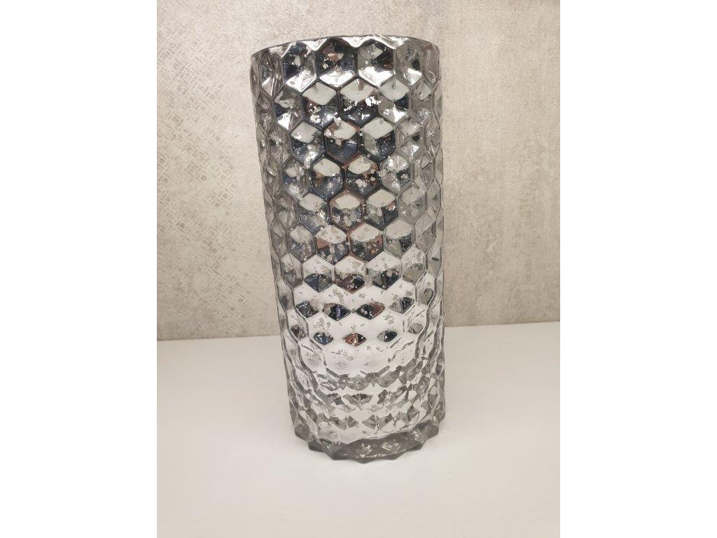 Sklenený svietnik - váza 26cm