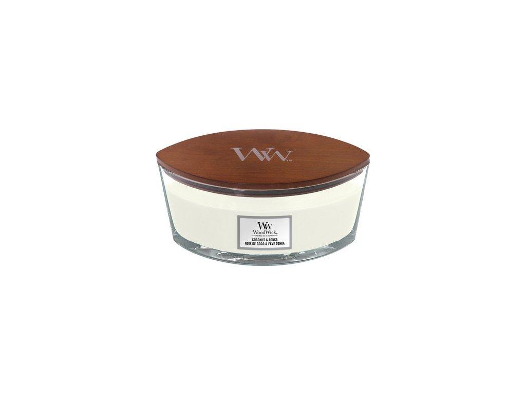 Sviečka WOODWICK ,/ Loď/ Coconut & Tonka 453,6g