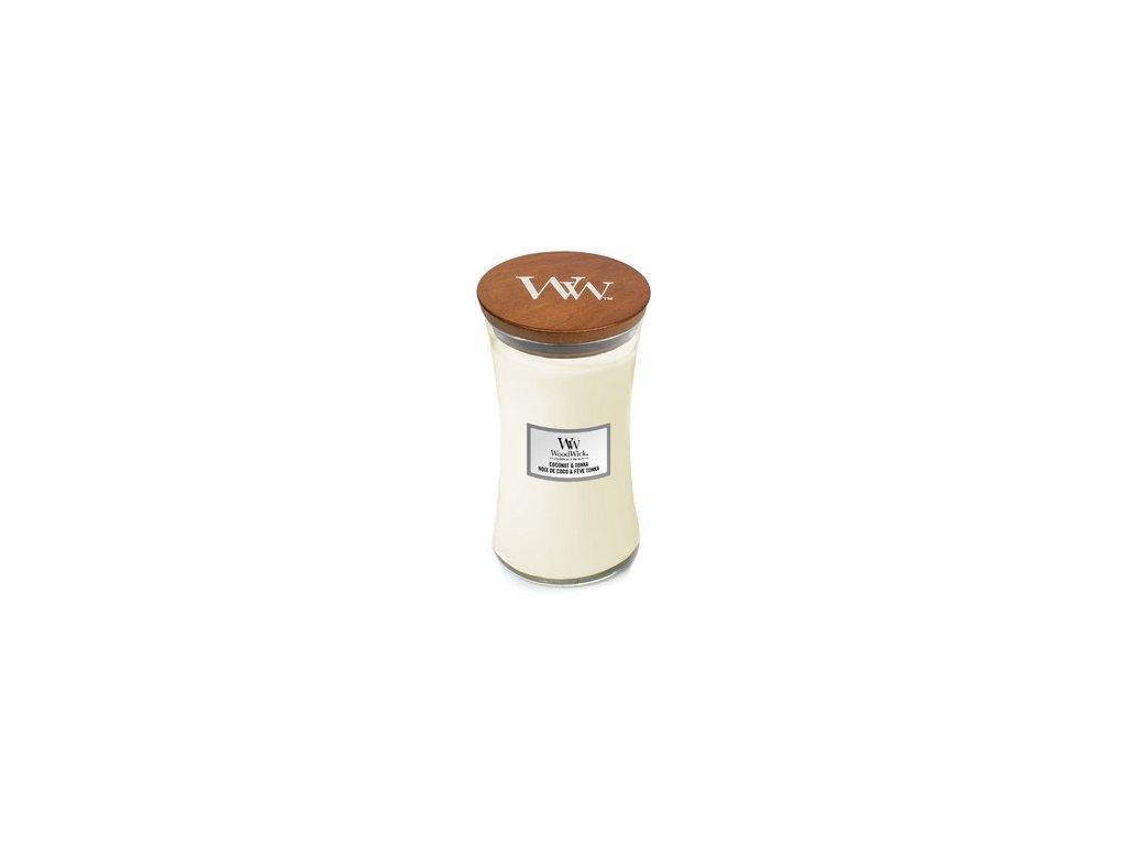 Sviečka WOODWICK ,  Woodwick Coconut & Tonka 610g