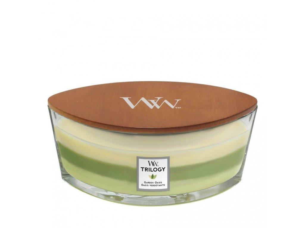 Woodwick Garden Oasis Trilogy Ellipse Jar Candle 1