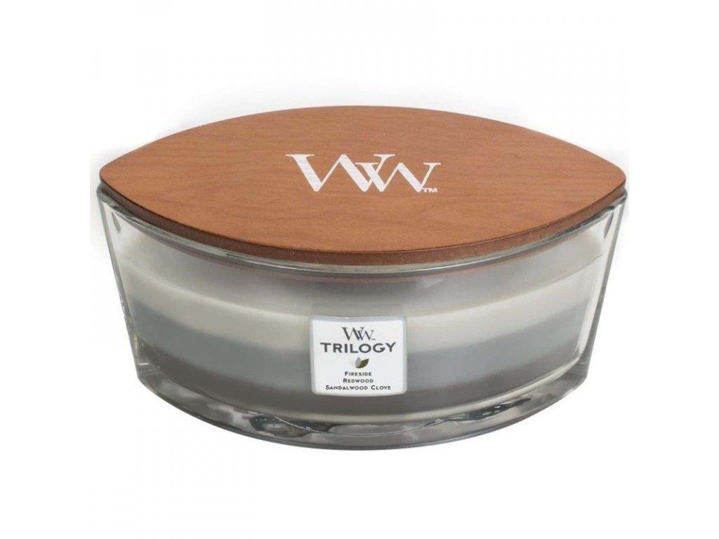pol pl WoodWick Core Heartwick Trilogy Candle swieca zapachowa sojowa w szkle lodka trojzapachowa 60 h Warm Woods 3913 1