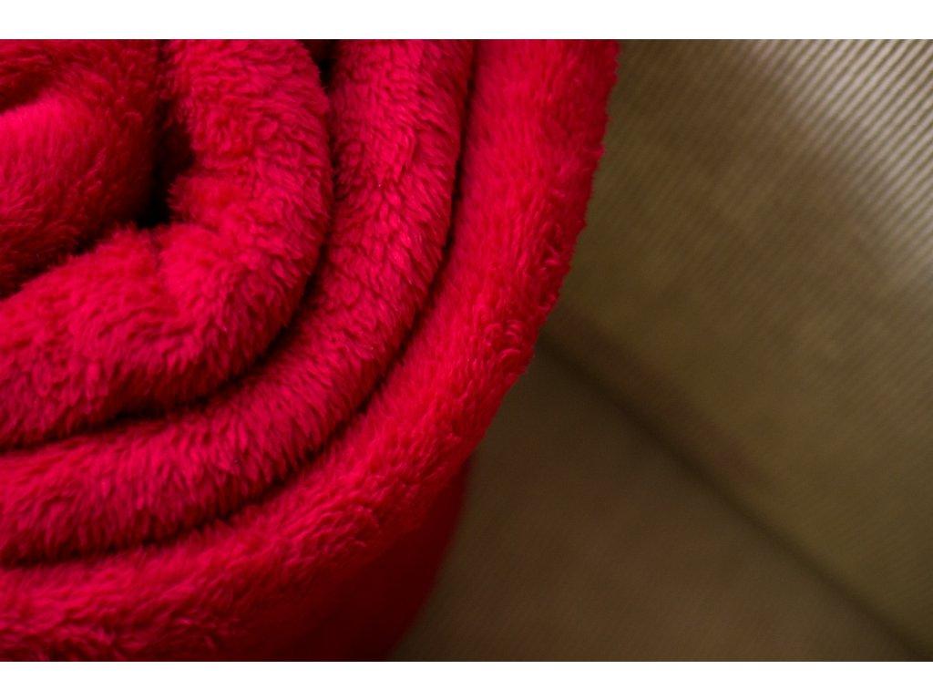 Flísová deka Home Design červená 140x200 cm