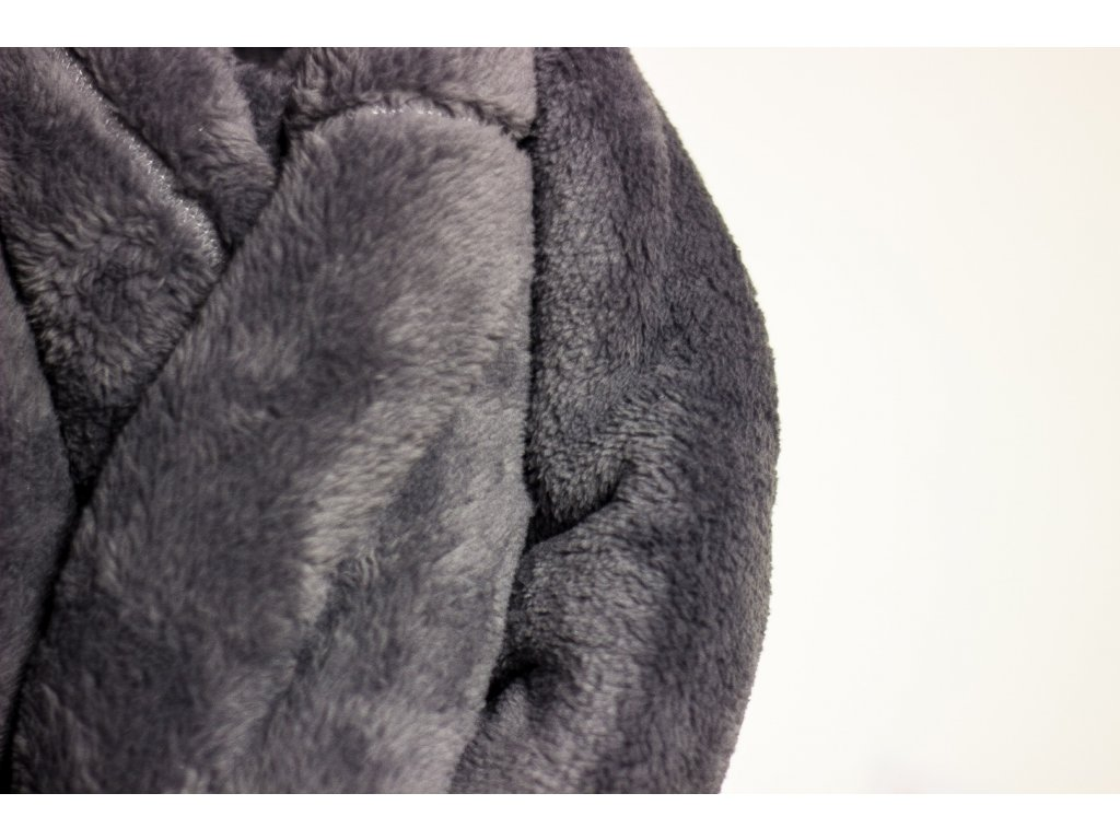 Flísová deka Home Design, sivo-modrá 140x200 cm