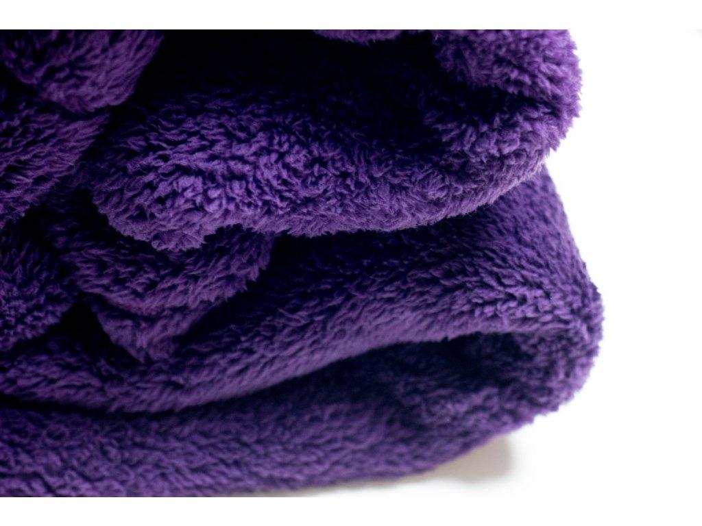 Flísová deka Home Desig, tmavá fialová, 140x200 cm
